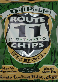 Dill Pickle Potato Chips - Route 11