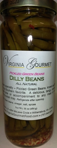 Dilly Beans - Pickled Green Beans - Virginia Gourmet