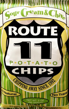 Potato Chips (6 Pack) - Sour Cream and Chive (6oz per bag) Wheat & Gluten Free - Route 11