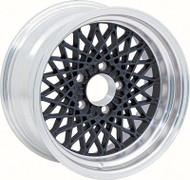"16"" X 8"" Black GTA Style Alloy Wheel with 4-3/4"" Backspacing and 0mm Offset"