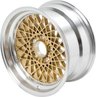 "16"" X 8"" Gold GTA Style Alloy Wheel with 5"" Backspacing and 16mm Offset"