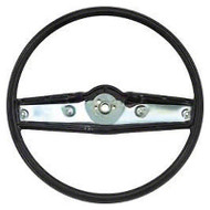 STEERING WHEEL; 69-70 ALL CHEVROLET CARS [STANDARD WHEEL] [BLACK]