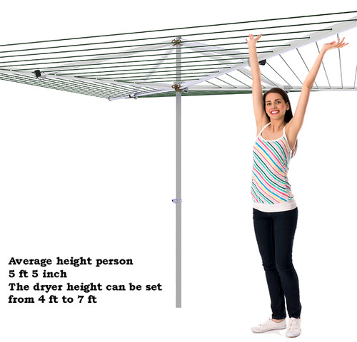 Breezecatcher Top-Spinner Rotary Clothesline  HD4-270