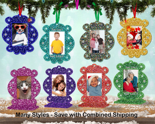 Photo Frame Glitter Candy Ornament