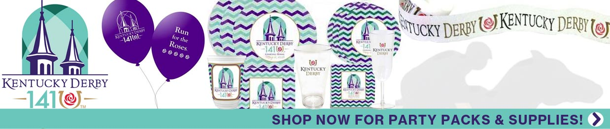 Stock up on your party supplies for the 141th Kentucky Derby! Shop now!