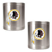 Washington Redskins 2pc Stainless Steel Can Holder Set