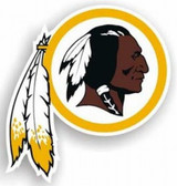 "Washington Redskins 12"" Indian Logo Car Magnet"