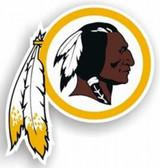 """Washington Redskins 12"""" Indian Logo Car Magnet"""