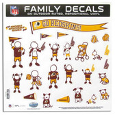 "Washington Redskins 11""x11"" Family Decal Sheet"