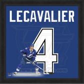 Vincent Lecavalier Tampa Bay Lightning 20x20 Framed Uniframe Jersey Photo