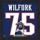 Vince Wilfork New England Patriots 20x20 Framed Jersey Photo Uniframe