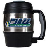 Utah Jazz 52oz. Stainless Steel Macho Travel Mug with Bottle Opener