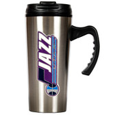 Utah Jazz 16oz Stainless Steel Travel Mug