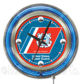 United States Coast Guard Neon Clock