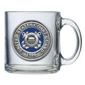 United States Coast Guard Clear Coffee Mug Set