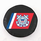 United States Coast Guard Black Tire Cover, Large