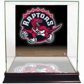 Toronto Raptors Logo Background Glass Basketball Display Case
