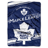 "Toronto Maple Leafs 60""x80"" Royal Plush Raschel Throw Blanket - Stamp Design"