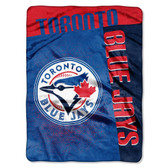 "Toronto Blue Jays 60""x80"" Royal Plush Raschel Throw Blanket - Strike Design"