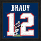 Tom Brady New England Patriots 20x20 Framed Uniframe Jersey Photo