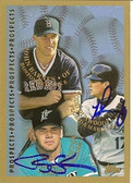 Todd Dunwoody Ryan Jackson 1998 Topps Signed Card