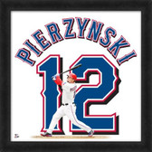 Texas Rangers A.J. Pierzynski 20X20 Framed Uniframe Jersey Photo