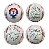 Texas Rangers 2013 Team Roster Signature Ball
