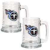 Tennessee Titans 2pc Glass Tankard Set