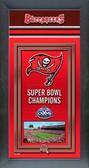 Tampa Bay Buccaneers Framed Championship Banner