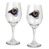 St. Louis Rams 2pc Wine Glass Set