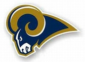 "St. Louis Rams 12"" Left Logo Car Magnet"
