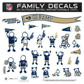 "St. Louis Rams 11""x11"" Family Decal Sheet"