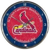 St. Louis Cardinals Round Chrome Wall Clock