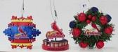 St Louis Cardinals 3 Piece Christmas Ornament Box Set