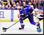 St Louis Blues David Backes 2014-15 Action 16x20 Stretched Canvas