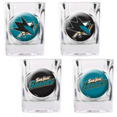 San Jose Sharks 4pc Square Shot Glass Set