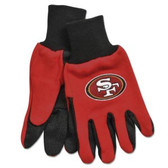 San Francisco 49ers Two Tone Gloves - Adult Size