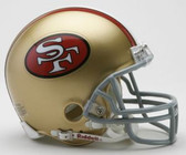 San Francisco 49ers 1964-1995 Throwback Riddell Mini Football Helmet