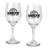 San Diego Chargers 2pc Wine Glass Set