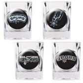 San Antonio Spurs 4pc Square Shot Glass Set
