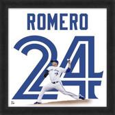 Ricky Romero Toronto Blue Jays 20x20 Framed Uniframe Jersey Photo