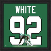 Reggie White Philadelphia Eagles 20x20 Framed Uniframe Jersey Photo