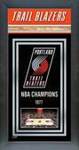 Portland Trailblazers Framed Championship Banner
