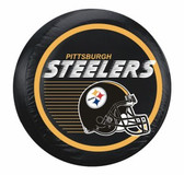 Pittsburgh Steelers Black Helmet Tire Cover