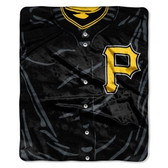 "Pittsburgh Pirates 50""x60"" Royal Plush Raschel Throw Blanket - Jersey Design"