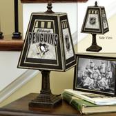 "Pittsburgh Penguins 14"" Art Glass Table Lamp"