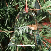 Pittsburg Panthers Bell Shaped Crystal Christmas Ornament