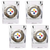 Pittburgh Steelers 4pc Square Shot Glass Set