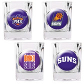 Phoenix Suns 4pc Square Shot Glass Set