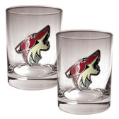 Phoenix Coyotes 2pc Rocks Glass Set - Primary Logo